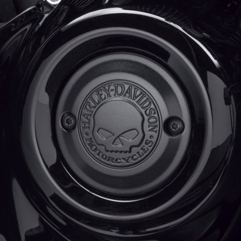 Willie G Skull Timer Cover Matte Black H-D®