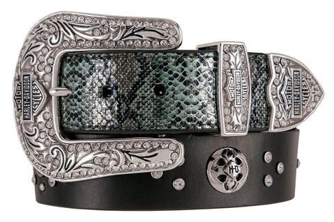 H-D® Snakeskin Charmer Leather Belt