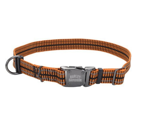 Reflective Rugged Adjustable Pet Collar H-D®