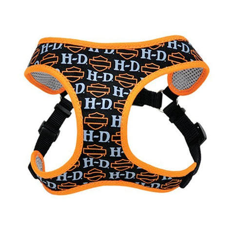 HD with B&S Fashion Mesh Orange Pet Harness Small