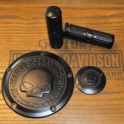 Starter Kit Matt Black Skull H-D®