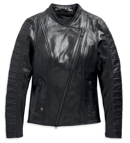 OZELLO PERFORATED LEATHER JACKET