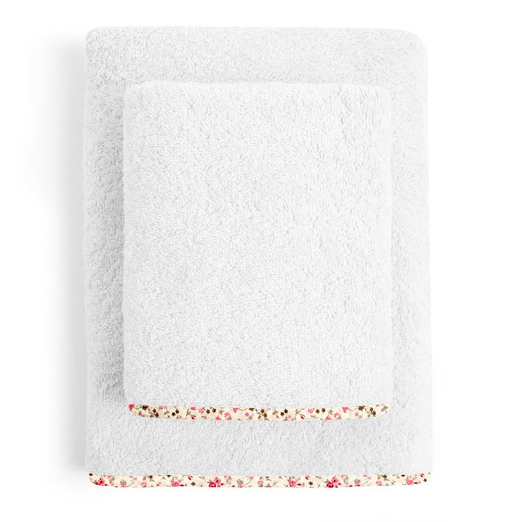 Organic White Floral Junior Towel Set