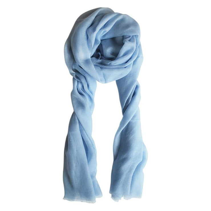 Cashmere Airy Blue Scarf