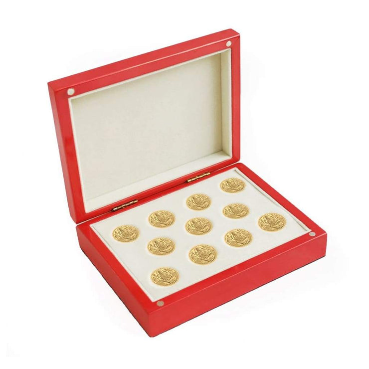 Red Glossy Coin Box (11 coins) - COIN BOX