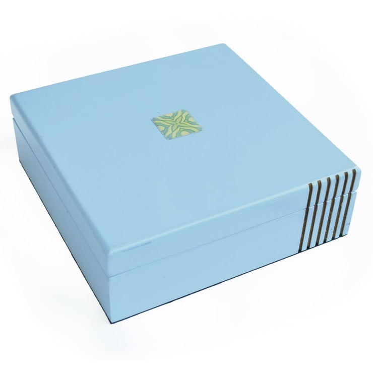 Square Blue Trinket Box - TRINKET BOX