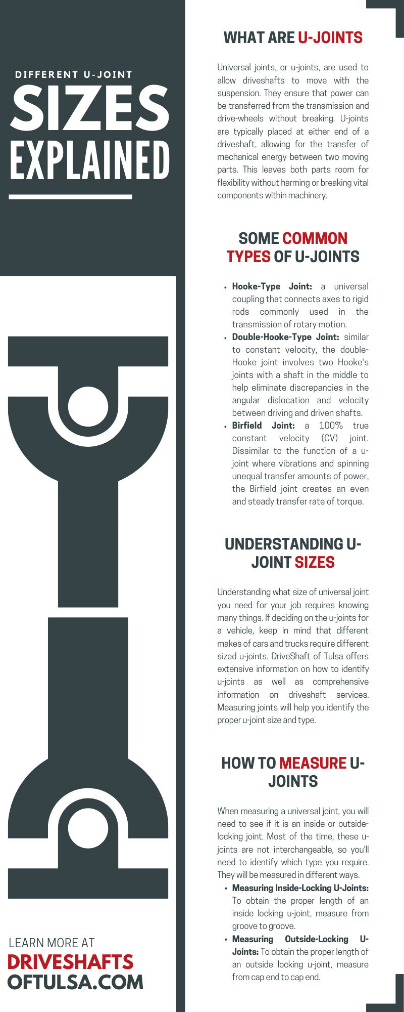 Different U-Joint Sizes Explained