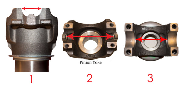 driveshaft pinion yoke measurements custom order driveshaft