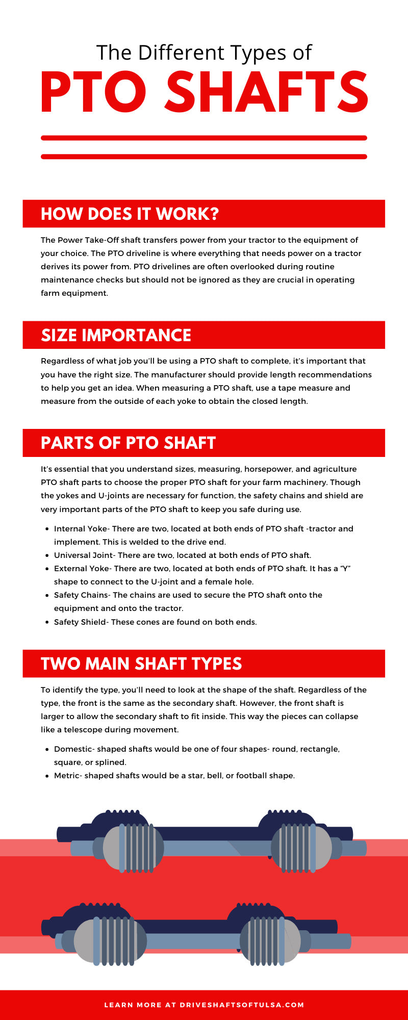 The Different Types of PTO Shafts