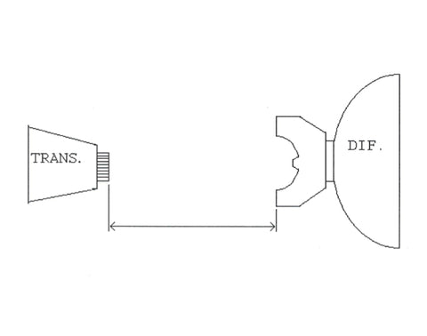 how to measure a drive shafts diagram