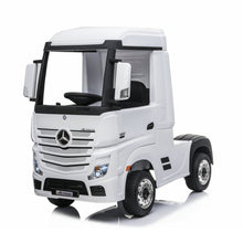 Load image into Gallery viewer, Mercedes Benz Actros Ride On Car White Ride On Cars FREDDO