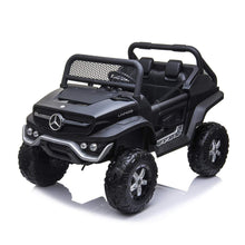 Load image into Gallery viewer, Mercedes Benz Unimog Ride on Car Black Ride On Cars FREDDO