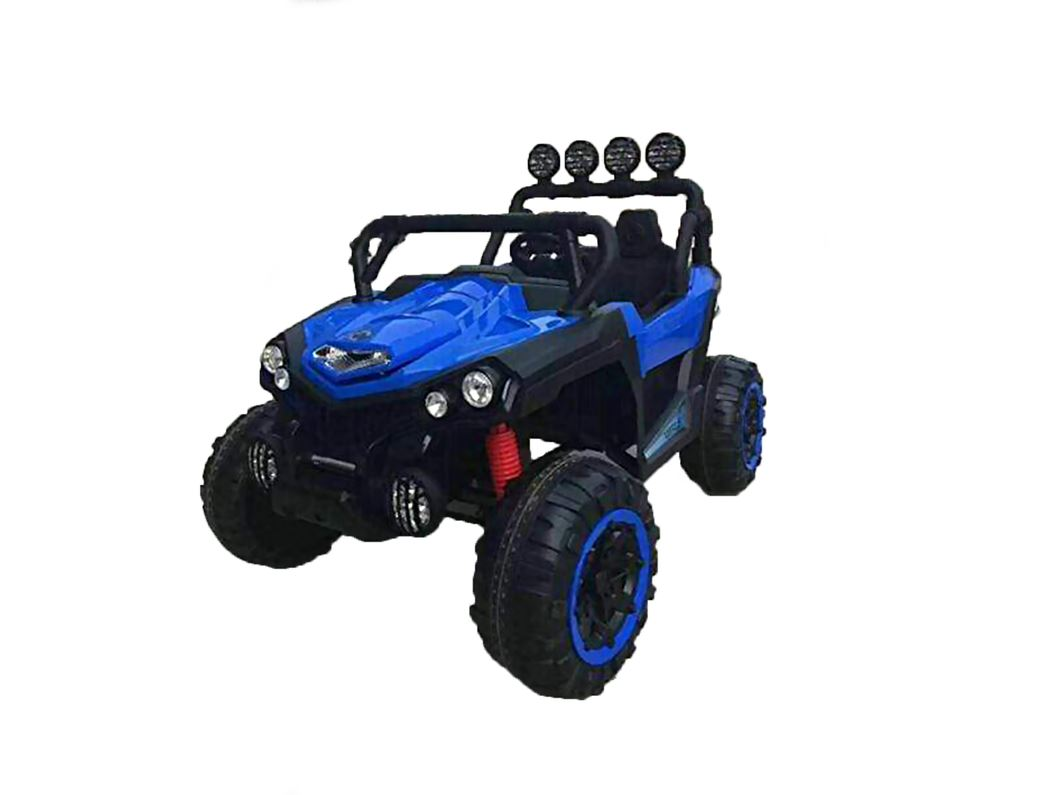 UTV JEEP STYLE VERY LARGE 2 SEATER 4 MOTORS (4x4) WITH REMOTE CONTROL Blue Ride On Cars FREDDO