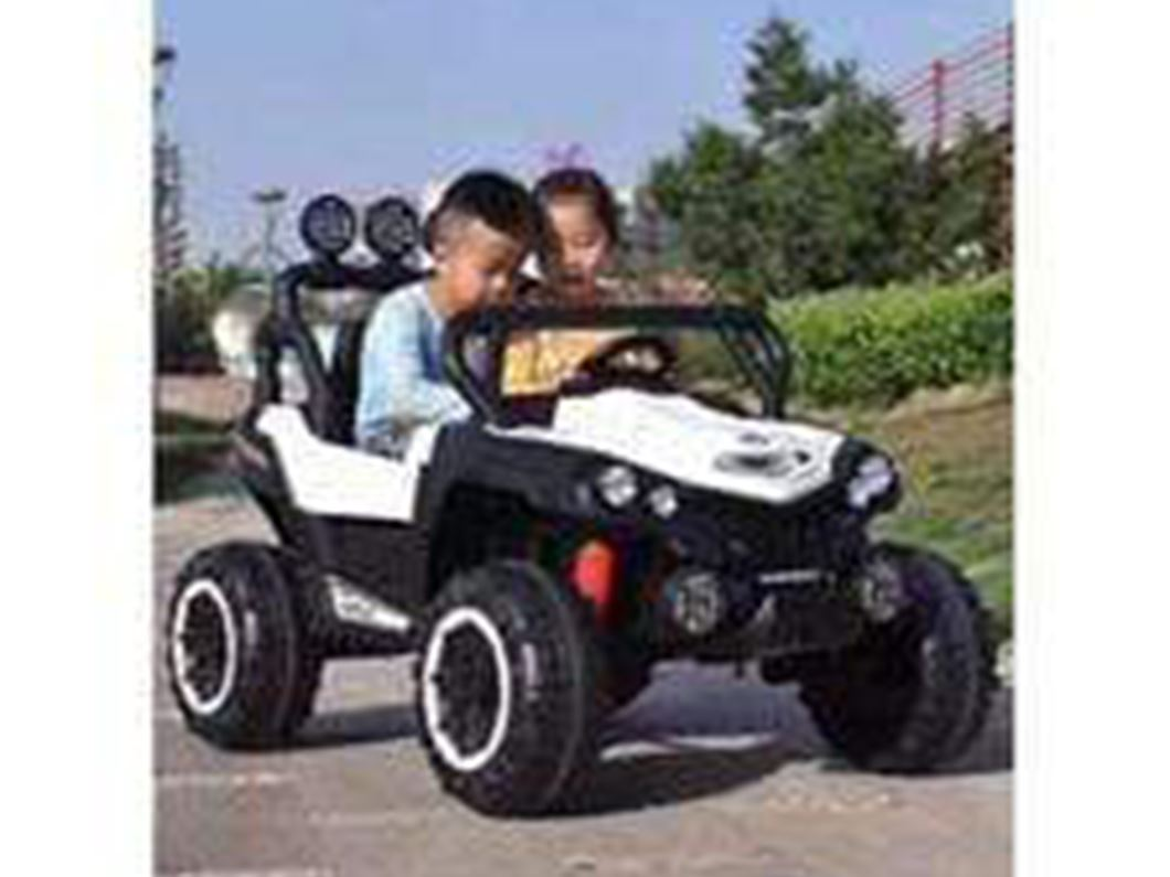 UTV JEEP STYLE VERY LARGE 2 SEATER 4 MOTORS (4x4) WITH REMOTE CONTROL White Ride On Cars FREDDO