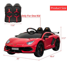 Load image into Gallery viewer, Lamborghini Aventador SVJ Sports Ride on Car Red Ride On Cars FREDDO