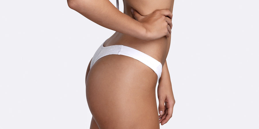 Cavallo Terry cloth high cut brief white side