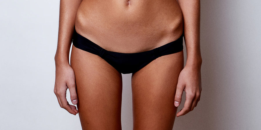 Black Bikini Bottoms | Dynasty Noir Brief | Zingiber Australian Designer Swimwear Label #blackbikini #bikini #swimwear