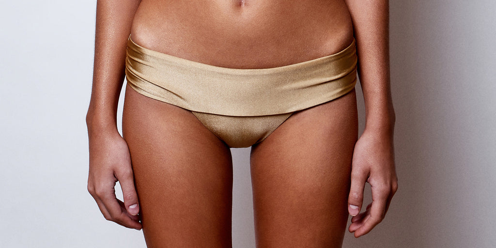 Monaco Métallique thick band brief - AVAILABLE NOW - 30% OFF