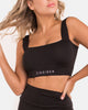 Sports Bra | Leigh Straight Cut Sports Bra | Zingiber Australian Designer Activewear Label  #sportsbra #activewear #australianactivewear