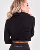 Jumpers | Oxford High Neck Pullover | Zingiber Australian Designer  #pullovers #blackjumper #sweater