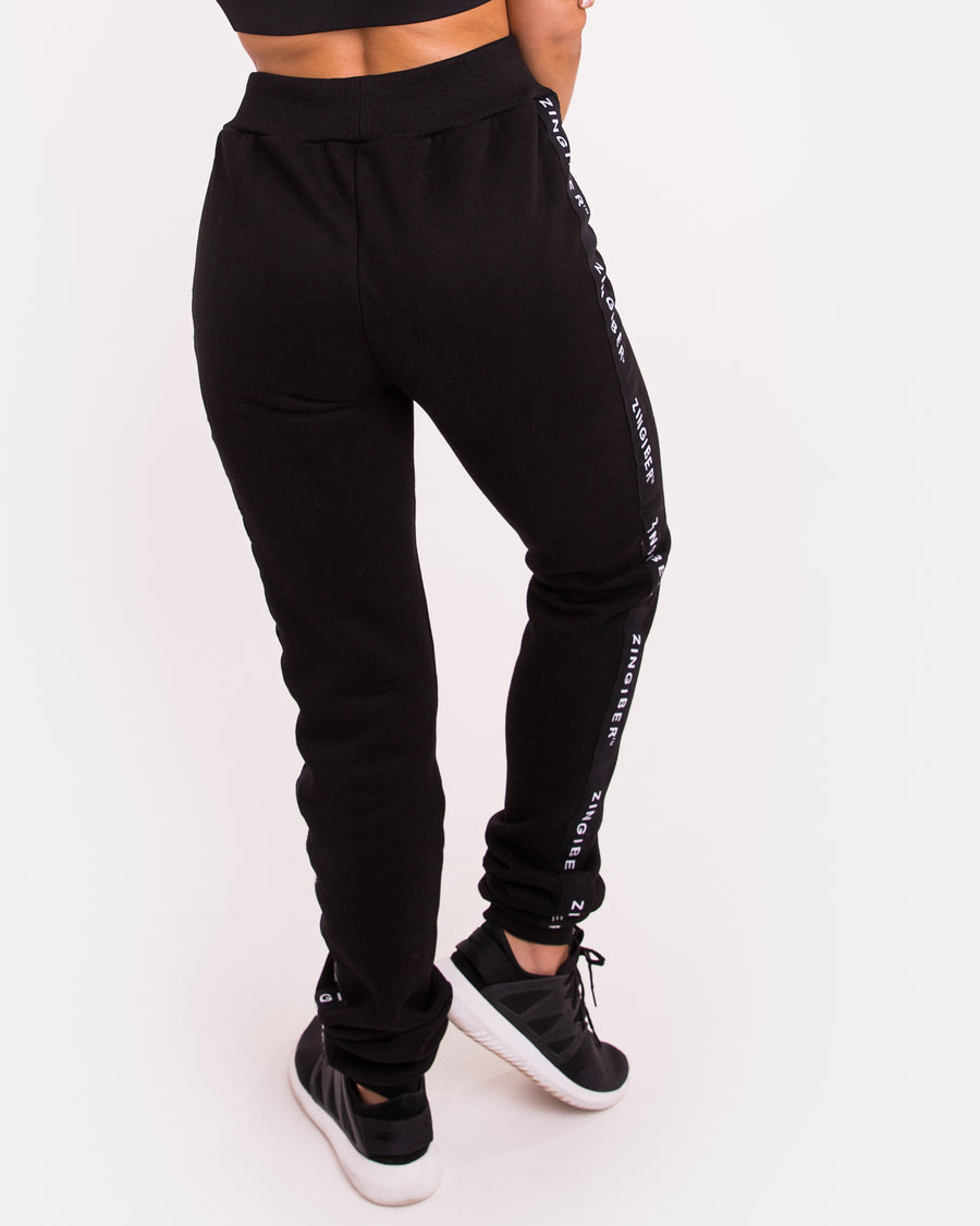 Clothing | Russel Logo Track Pants | Zingiber Australian Designer Activewear Label #tracksuitpants #blacktracksuit #loungewear