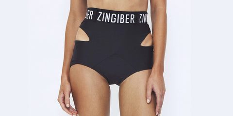 Bikini Bottoms | Zodiac Cut Out Bikini Brief | Zingiber Australian Designer Swimwear Label #bikinibottoms #blackbikini #swimsuit