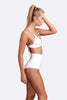 Corfu extended high waist two piece Terry cloth white side