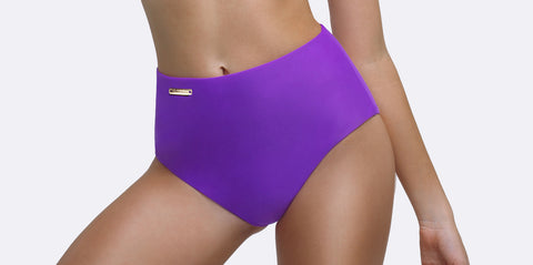 Purple Bikini | Gigi Medium High Waist Brief | Zingiber Australian Designer Swimwear Label #bikini #purplebikini #bathers