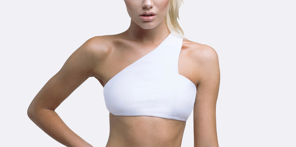 White Bikini | Gigi Cross Over Top | Zingiber Australian Designer Swimwear Label #whitebikini #twopiece #bathers