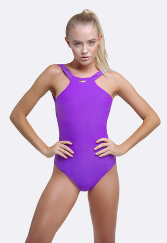 One Piece Bathers | Gia One Piece Ultra Violet | Zingiber Australian Designer Swimwear Label. #onepieceswimsuit #australianswimwear #beachwear