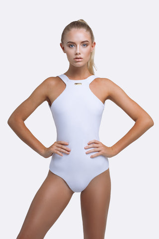 One Piece Swimsuit | Gia One Piece White | Zingiber Australian Designer Swimwear Label  #onepieceswimsuit #australianswimwear #onepiecebathers
