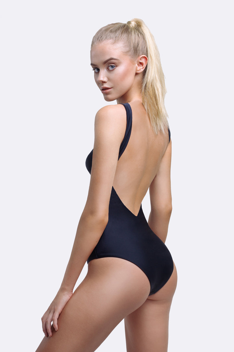 Black One Piece Swimsuit | Gia One Piece Black | Zingiber Australian Designer Swimwear Label  #blackonepieceswimsuit #beachwear #blackbathers