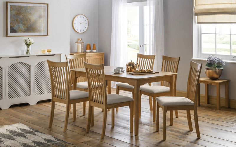 Iberian Extending Oak Dining Table & 6 Chairs