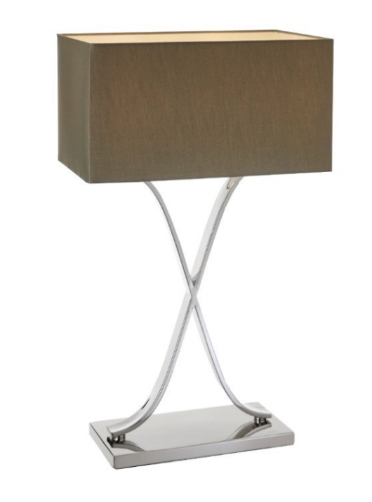 Bordeaux Tall Nickel Table Lamp