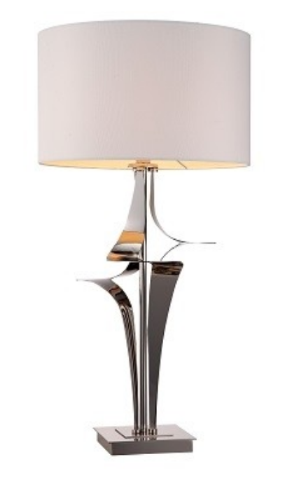 Ebchester nickel table lamp