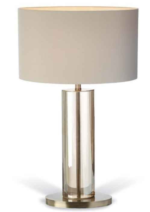 Larnaca Cognac Crystal Table Lamp