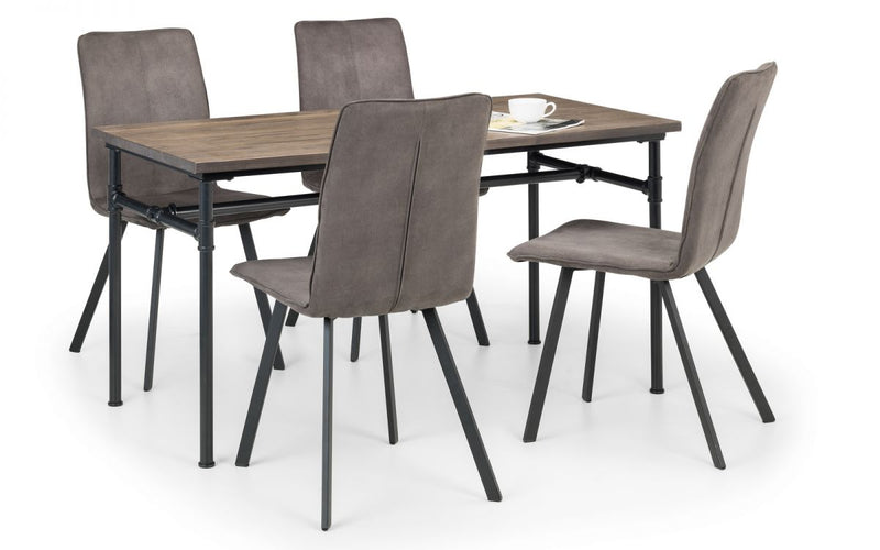 Carnet Dining Table & 4 Moven Chairs