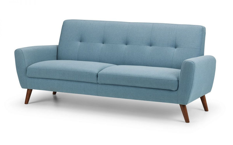 Palmdale 3 Seater Retro Sofa Blue