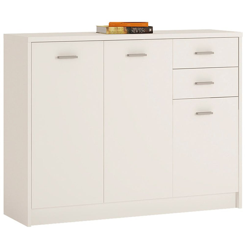 New York 3 Door 2 Drawer Wide Cupboard