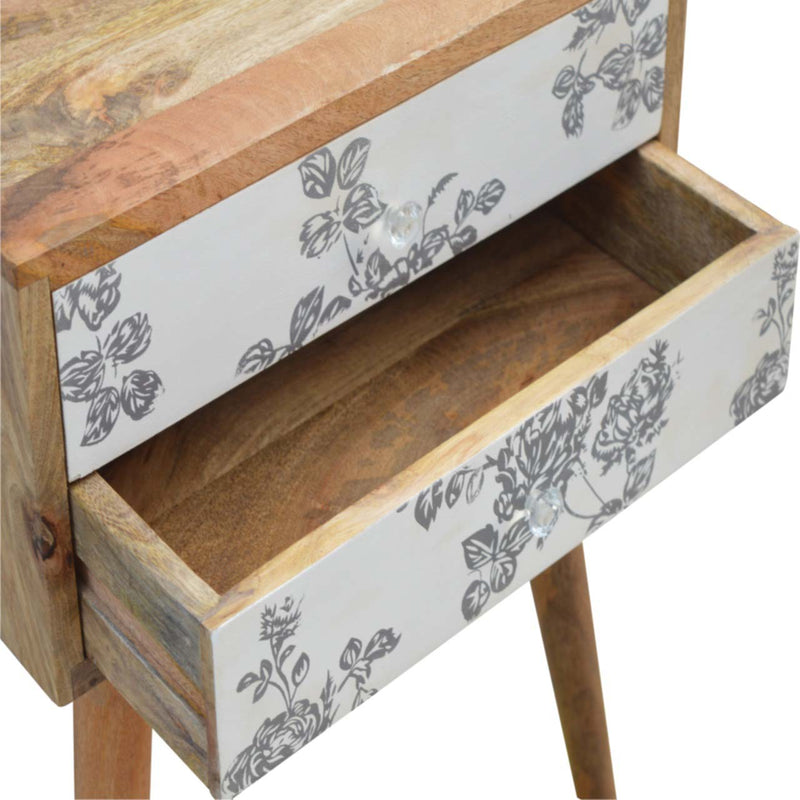 Keesey Floral Screen Printed Bedside
