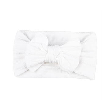 BELUGA WHITE CABLE KNIT NYLON HEADWRAP