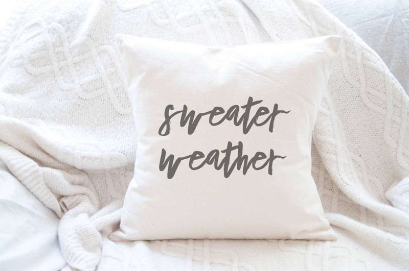 Sweater Weather - Cotton Canvas Pillow