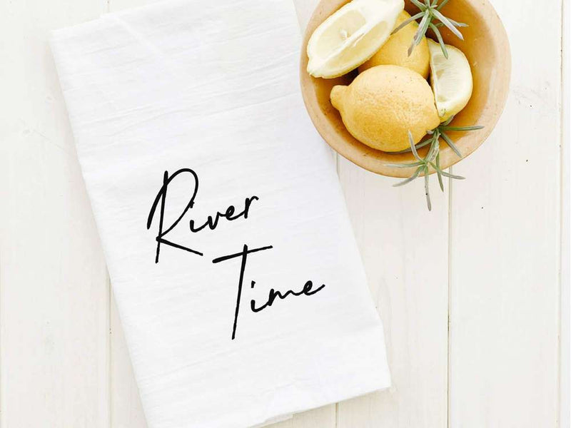 River Time - Cotton Tea Towel