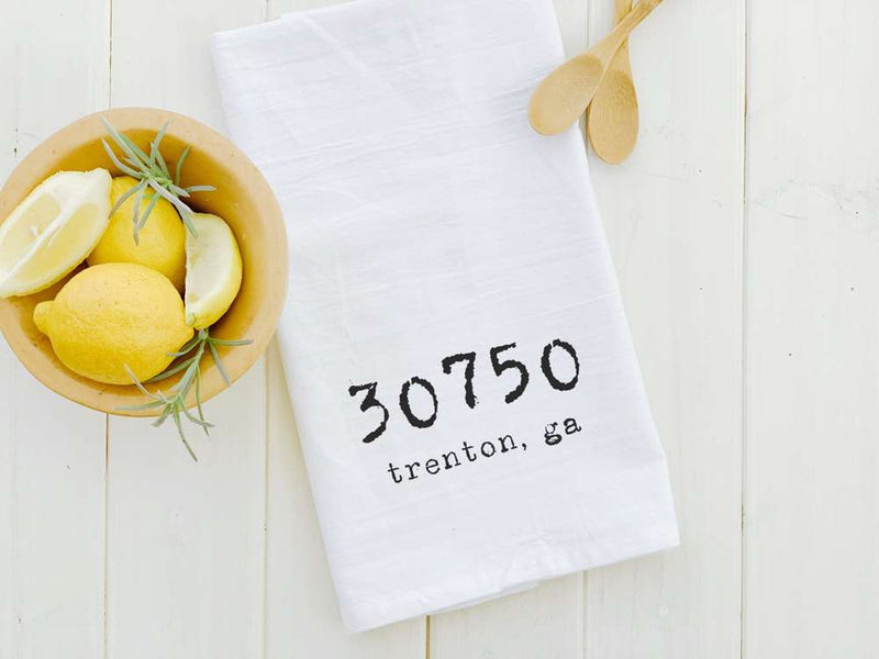 Customizable Zip Code - Cotton Tea Towel