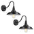 Emliviar Barn lights Black Gooseneck Barn Light 2 Pack Industrial Wall Sconce