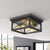 Emliviar Flushmount Ceiling Light Fixture 2 Inch Flush Mount Ceiling Light in Black Finish