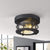 Emliviar Flushmount Farmhouse Flush Mount Ceiling Light 11 Inch Black Finish