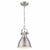 Emliviar hanging lights Modern Mini Pendant Light, 8 inch Hanging Light with Metal Shade, Brushed Nickel Finish