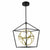 Emliviar Modern chandeliers Industrial LED Chandelier Fixture in Black and Gold Finish