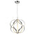 Emliviar Modern chandeliers Modern LED Chandelier Fixture for Dining Room Chrome Finish